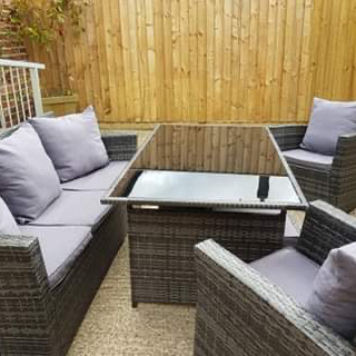 North Kingsfield holiday cottages The Mill House outdoor seating